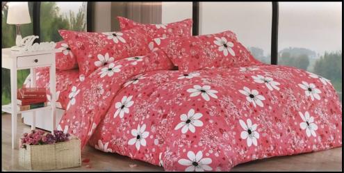 3 részes rózsaszín virágos ágyneműhuzat garnitúra 962cb6ebc3